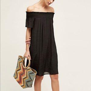 Anthropologie/Amadi Black Off-The-Shoulder Dress